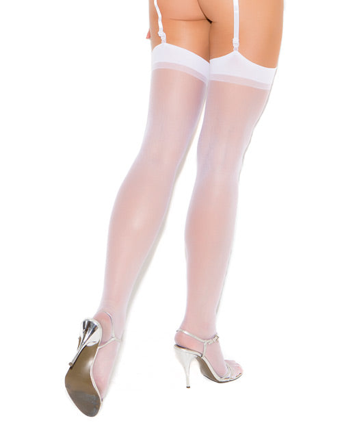 Sheer Thigh Highs White O-s