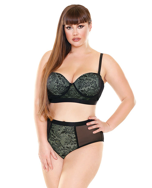 Curve Katrina Long Line Bra with Matching High Waist Lace Panty