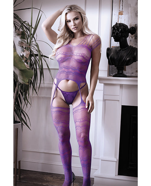Sheer Strappy Gartered Bodystocking