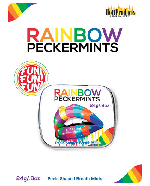 Rainbow Pecker Shape Candies In Tin-carded