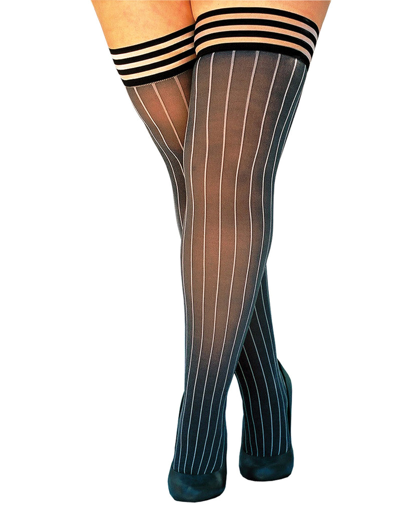 Annabelle Pinstripe Thigh Highs