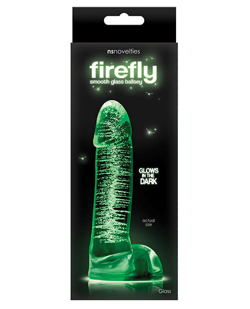 "Firefly Clear Glass Smooth Ballsey 4"" Dildo"