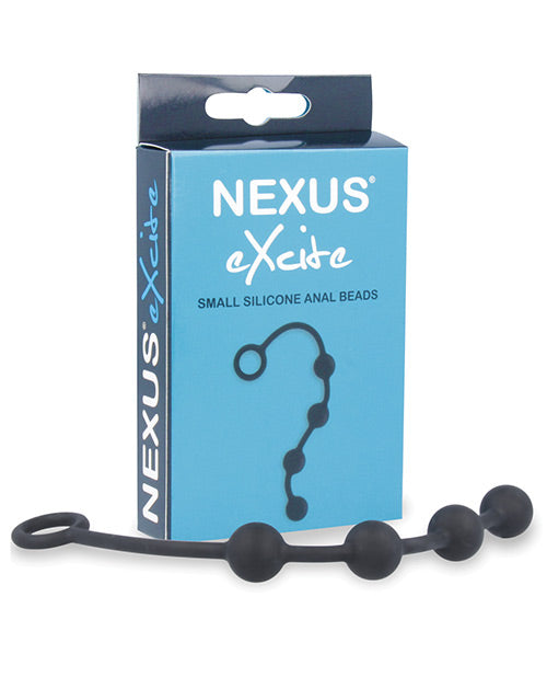 Nexus Excite Silicone Anal Beads - Black