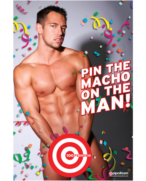 Bachelorette Party Favors Pin The Macho On The Man Game - Flesh