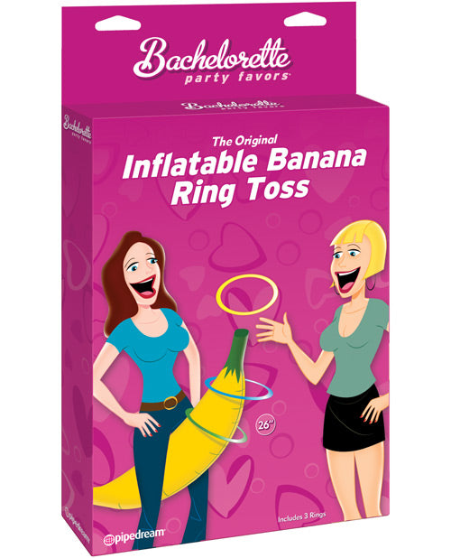 Bachelorette Party Favors Inflatable Banana Ring Toss Game - Yellow
