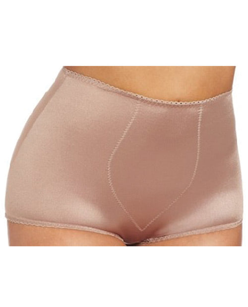 Rago Shapewear Rear Shaper Panty Brief Light Shaping W-removable Contour Pads Mocha Sm
