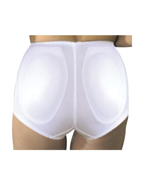 Rago Shapewear Rear Shaper Panty Brief Light Shaping W-removable Contour Pads White Md