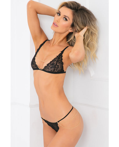 Rene Rofe Body Jewelry Bra & Panty