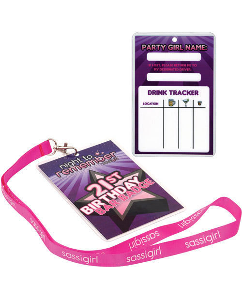 Night To Remember 21st Birthday Bar Badge By Sassigirl