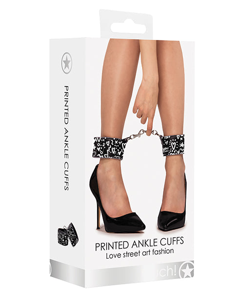 Shots Ouch Love Street Art Fashion Printed Ankle Cuffs