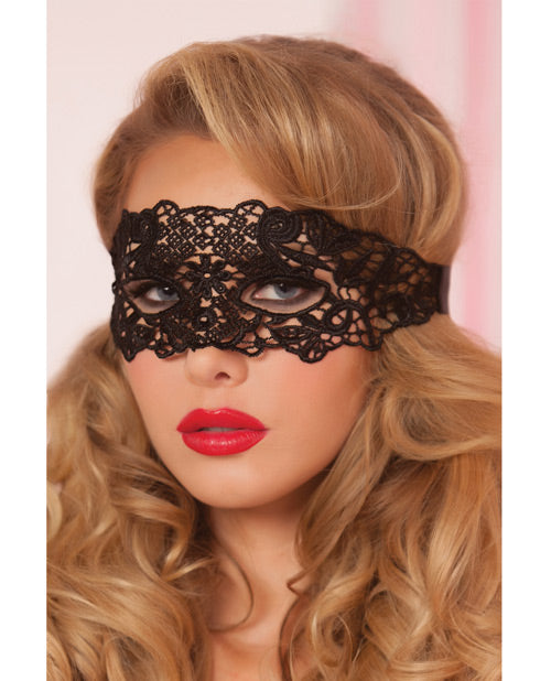 Lace Eye Mask with Satin Ribbon Ties