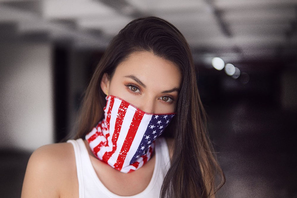 USA Print Face/Neck Bandana