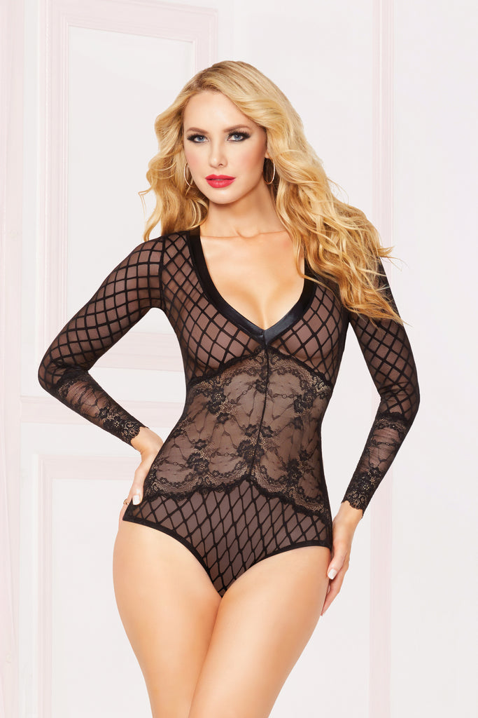 Geo Mesh Long Sleeve Teddy