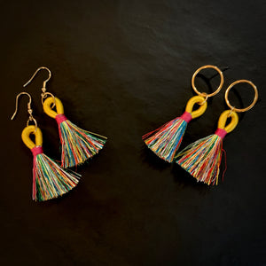 Bananarama - Rainbow Tassel Earrings