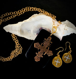 The Madonna - Resin Cross Convertible Necklace