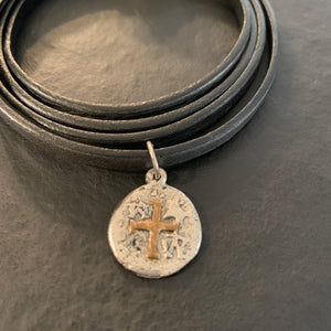 The Brandy - Grey 5 Wrap Leather Bracelet
