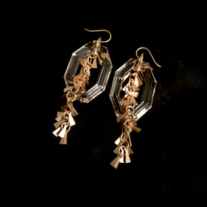 The Aretha - Acrylic & Chain Earrings