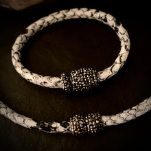 The Cure - Black & White Embossed Bracelet/Choker