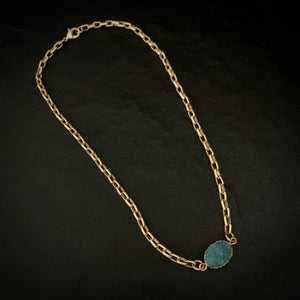 The Riviera - Matte Gold Necklace
