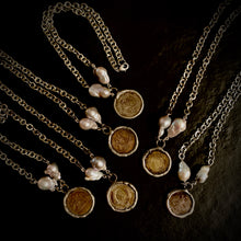 The Camila - Vintage Chain, Coin & Freshwater Pearl