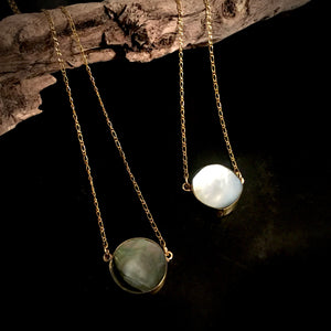 Moon Dance-Mother of Pearl Necklace