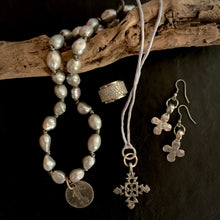 The Amy - Small Distressed Cross Earrings