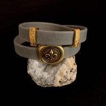 The Rita - Grey Leather Bracelet
