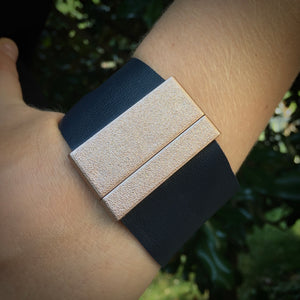 The Suzanne - Leather & Acrylic Cuff