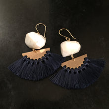 White opal with navy tassel