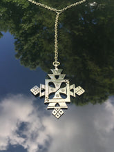 Y  Necklace with 2 Tone Cross
