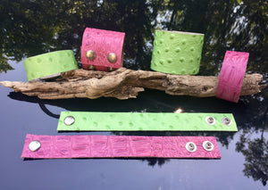Crocodile Rock Leather Cuff