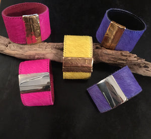 The Lilly - Wide Hide Cuff