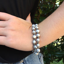 The Katy - Round Grey Pearl - Bracelet/Necklace/Choker