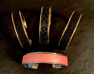 The Kaleo - Leather & Metal Cuffs