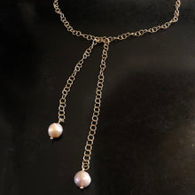 The Diana - Matte Gold Pearl Lariat