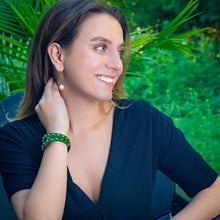 The Bono - Unisex Green Studded Bracelet