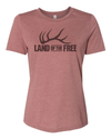 "WOMEN'S ""LAND OF THE FREE"" RELAXED TEE"