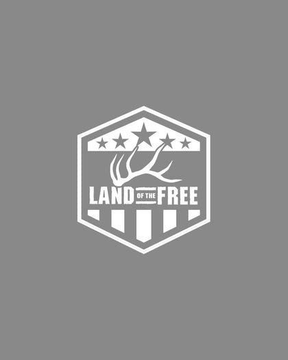 LAND OF THE FREE - DECAL - WHITE
