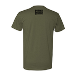 """TAGGED OUT"" T-SHIRT - MILITARY GREEN"
