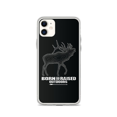 iPhone Case - Elk Topo - Black