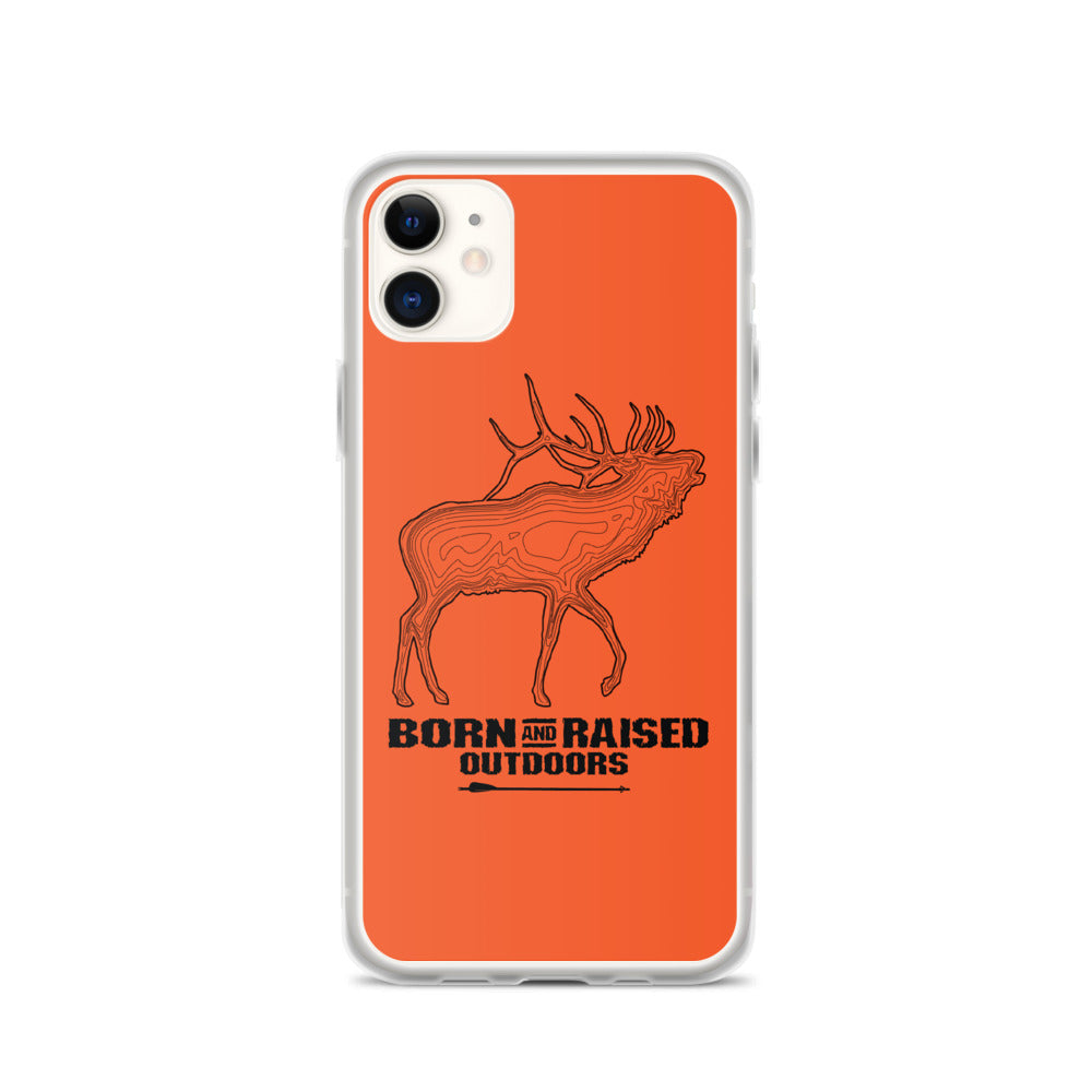 iPhone Case - Elk Topo - Orange