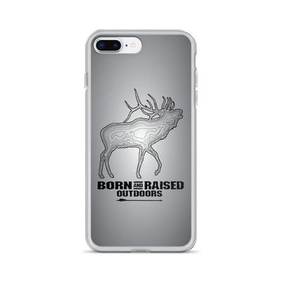 iPhone Case - Elk Topo - Grey