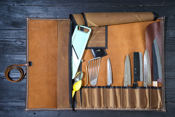 Leather and Waxed Canvas Knife Rolls | Valentich Goods