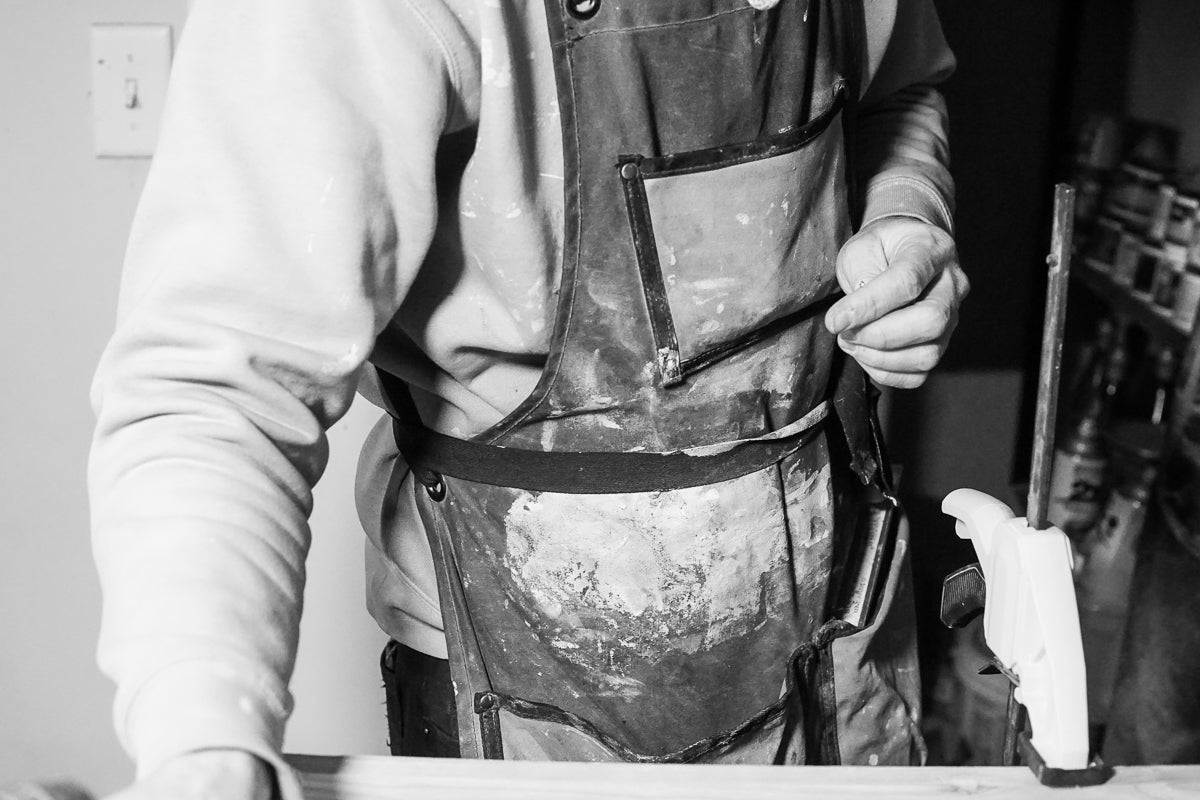 Worn Waxed Canvas Work Apron