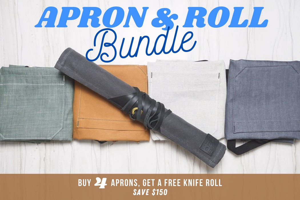 Apron & Knife Roll Bundle - Valentich Goods