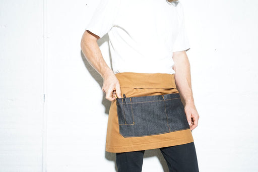 Bistro Server Apron - Honey Gold + Black - Valentich Goods