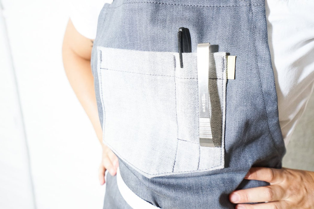 Deluxe Chef Apron - Grey - Valentich Goods