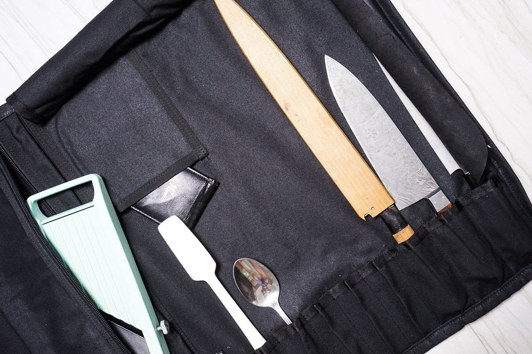 Deluxe Knife Roll - Black - Valentich Goods
