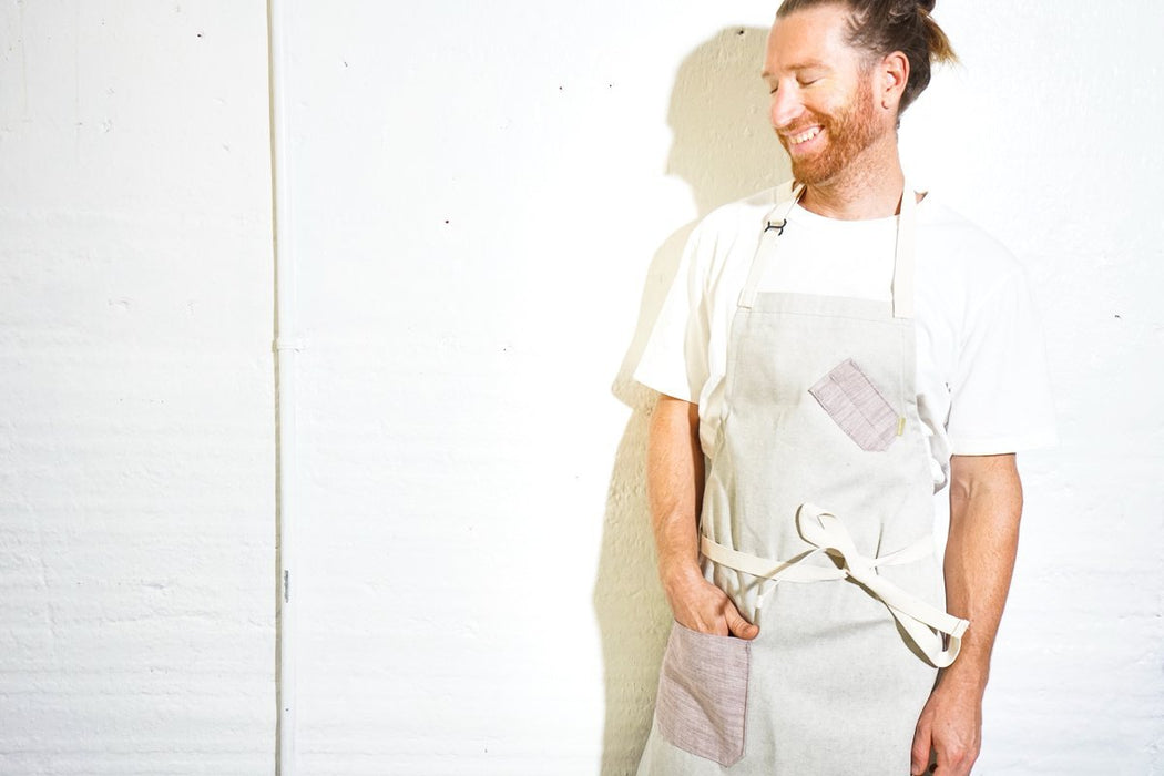 Salt + Pepper BURGUNDY Chef Apron - Valentich Goods