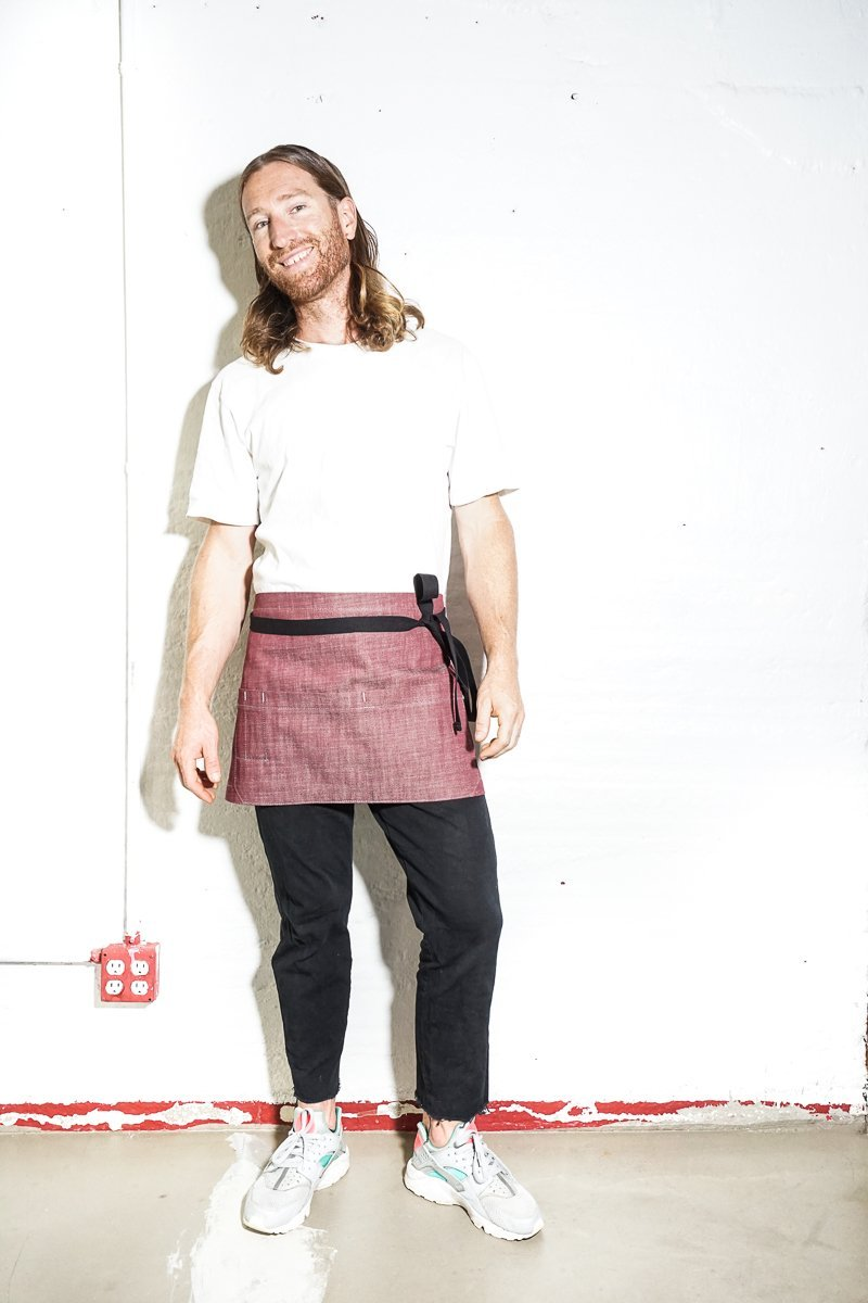 Shorty Server Apron - Burgundy - Valentich Goods